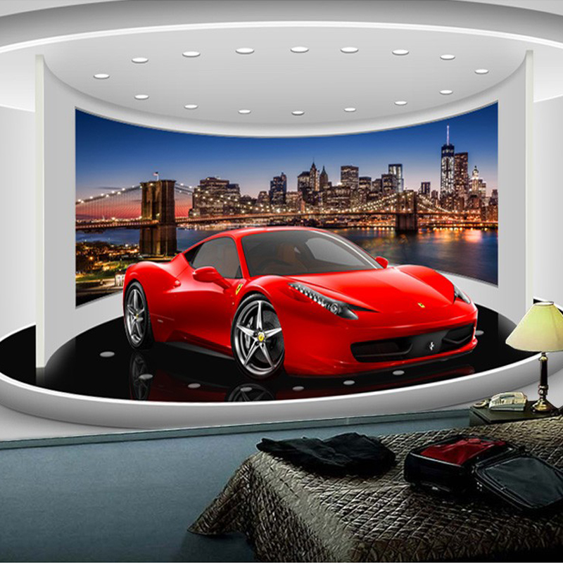 Custom Any Size 3D Sports Car Poster Photo Wallpaper