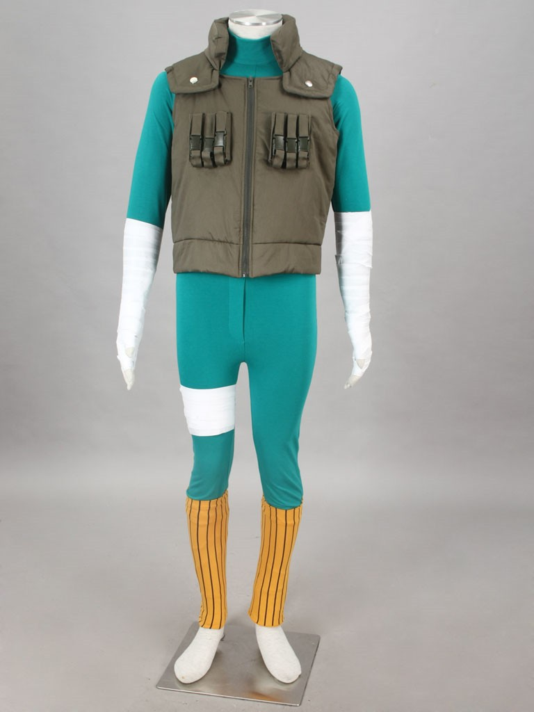 NARUTO anime Rock Lee cosplay costume 2 generation halloween crossdressing costumes