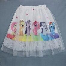 Girls Toddler Skirts Cartoon Unicorn Tutu Pony skirt Princess Clothes Printed Little Lace Girl Clothes Kids Skirt 5100 dfxd kids girl clothes 2018 spring summer toddler girls skirts black lace ne yarn princess tutu skirts children fashion skirt