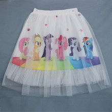 Girls Toddler Skirts Cartoon Unicorn Tutu Pony skirt Princess Clothes Printed Little Lace Girl Clothes Kids Skirt 5100(China)