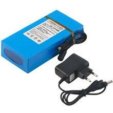 Горячая ЕС Plug DC 12 В 15000 мАч мощный Перезаряжаемые литий-ионный Батарея запасной литий-ионный аккумулятор для видеонаблюдения Камера Беспроводной передатчик