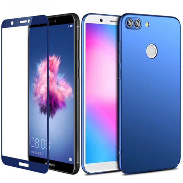 size 40 052f5 bfb8c US $3.23 9% OFF|360 Full Protective For Huawei P Smart Case Slim Thin Hard  Frosted Back Cover Case on For Huawei P Smart FIG LX1 Tempered Glass-in ...