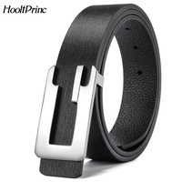 HooltPrinc NEW Cowhide Leather Fashion Luxury High Quality Alloy Length Can Be Adjusted Belts For Men
