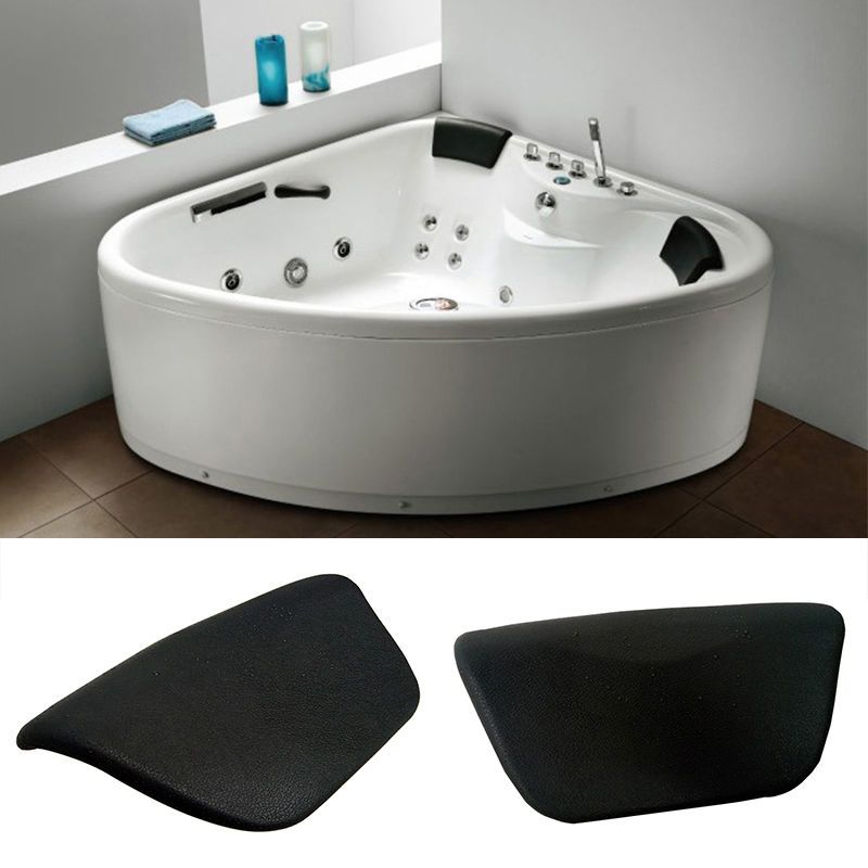 WHISM Non slip PU Leather Bath Pillows Waterproof SPA Body Neck ...