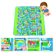 Fashion Children Play Mats City Road Pattern Moisture-proof Carpet Baby Kids Game Crawl Mat Outdoor Picnic Camping Rugs @Z445(China)