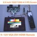 8.9 polegada 1920*1200 IPS Monitor HDMI VGA DVI Placa de Motorista Módulo de Tela Do Painel de LCD Monitor de Laptop PC Raspberry Pi 3 carro