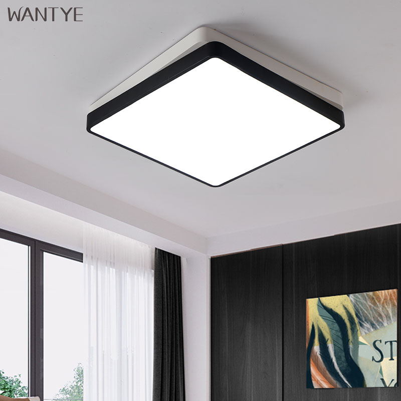 Acrylic Square LED Ceiling Lamp 220V Bedroom Living room Modern Ceiling Light Dimmable Indoor Lighting Fixtures with Remote round led ceiling light white modern acrylic ceiling lamp dimmable with remote control for kids bedroom lighting fixtures