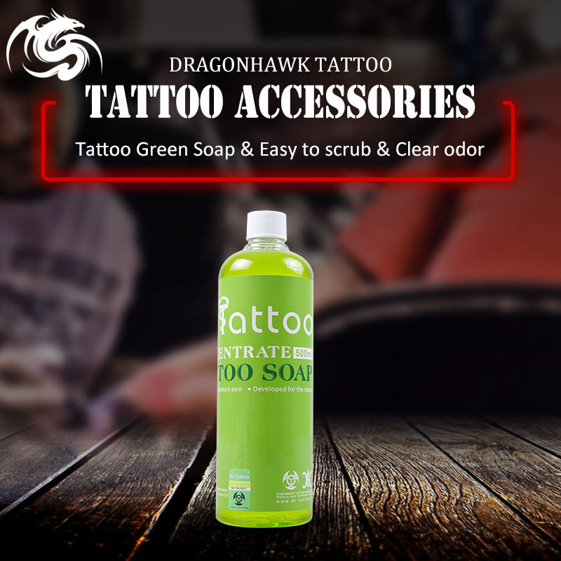 Import 500ml Bottle Tattoo Soap Cleaning Water Skin Wash Pure Plant Green Soap Tattoo After Care