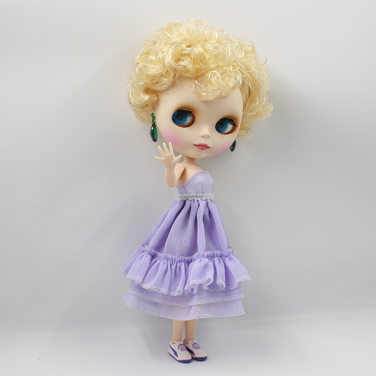12 Fashion Dolls Mini DIY Nude Blyth Doll Golden Curly Short Hair Doll With Joint Body Girl Gifts nude doll bonecos blyth doll diy short yellow curly hair suitable for change diy doll toys baby dolls for girl gifts
