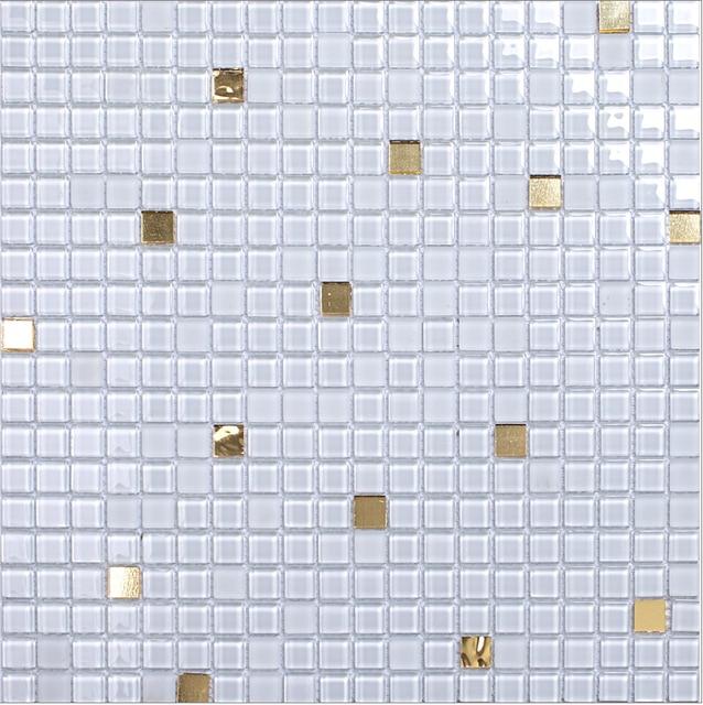 Weiß Puzzle Parkett Mosaik Balkon Bad Klar Glas Mosaik Säule Glas Tapete  Küche Back Badezimmer Fliesen