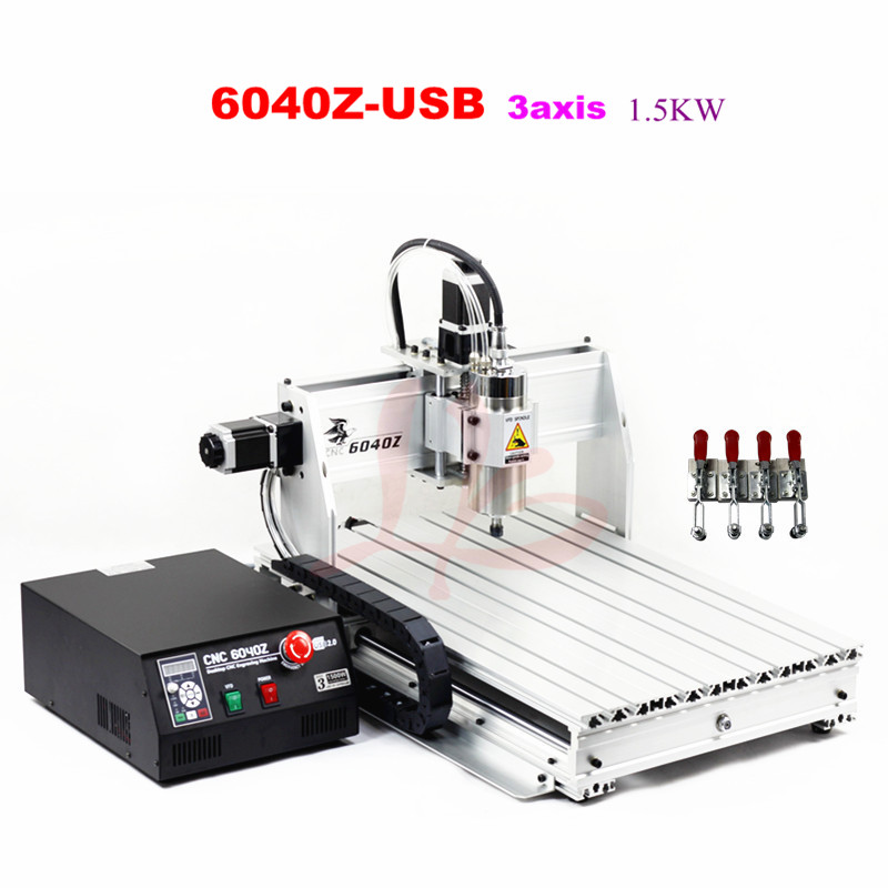 Russia free tax Wood lathe cnc router machine  6040Z-USB 3axis work for wood Marble metal pcb no tax to russia cnc carving machine 4030 z d300 cnc lathe mini cnc router for woodworking