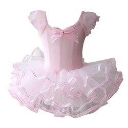 Rosa/amarelo ballet tutu dress meninas ginástica leotard dancewear roupas de balé crianças traje da bailarina desconto ballet tutus