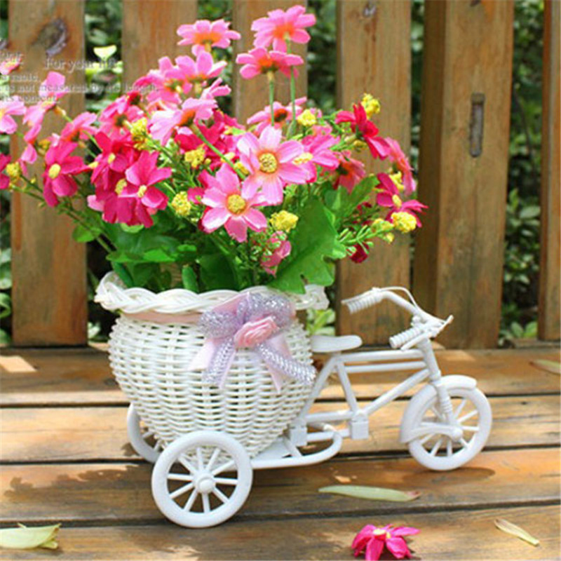 Plastic White Tricycle Bike Design Flower Basket Storage Party Home Garden  Decoration Event Christmas Wedding Supplier In Party DIY Decorations From  Home ...