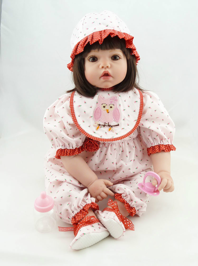 22 Inch 55cm Lifelike Real Bebes Reborn Silicone Reborn Menina  Baby Doll Toys for Girls Birthday Gift Bonecas Brinquedos22 Inch 55cm Lifelike Real Bebes Reborn Silicone Reborn Menina  Baby Doll Toys for Girls Birthday Gift Bonecas Brinquedos