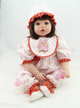 22 Inch 55cm Lifelike Real Bebes Reborn Silicone Reborn Menina  Baby Doll Toys for Girls Birthday Gift Bonecas Brinquedos