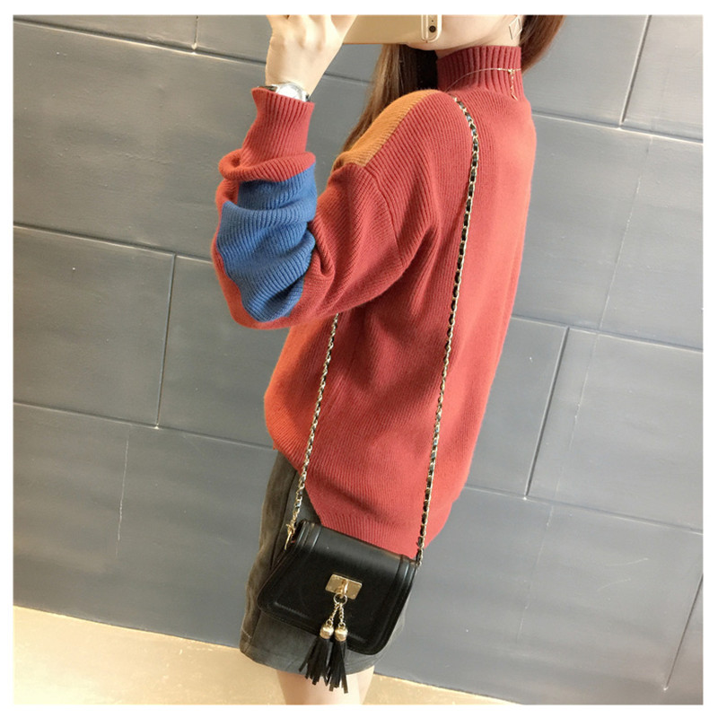 18 Women Sweaters And Pullovers Elegant Turtleneck Sweater Women Jumper Autumn Mixed Colors Knitted Pullover Pull Femme C3682 17
