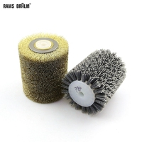 2 In 1 Polishing Wheel Brush For Wood Metal Surface Conditioning 100 120 13mm 9741 Wheel