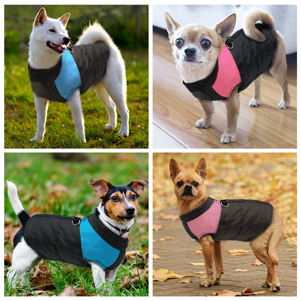 Clothes For Large Dogs Waterproof Dog Vest Jacket Winter Nylon Dogs Clothing For Dogs Chihuahua Labrador Blue Pink #2