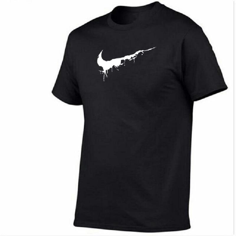 2019 New just color   T     Shirt   Mens cotton   T  -  shirts   Summer Skateboard Tee Boy Skate Tshirt Tops