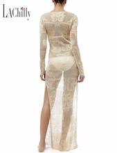 Knitted straps beach skirt long sleeves long section split fake skirt bikini swimsuit blouse female Beach wear dresses womens