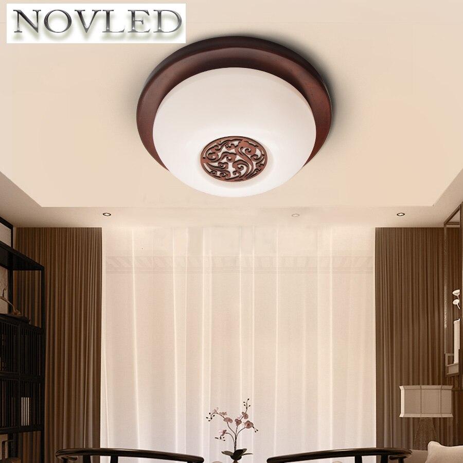 AC220V Chinese Style Engraved Lamp 15W watt Indoor Lighting Ceiling LED Wood Light Livingroom Light Bedroom Lamp Aisle Light