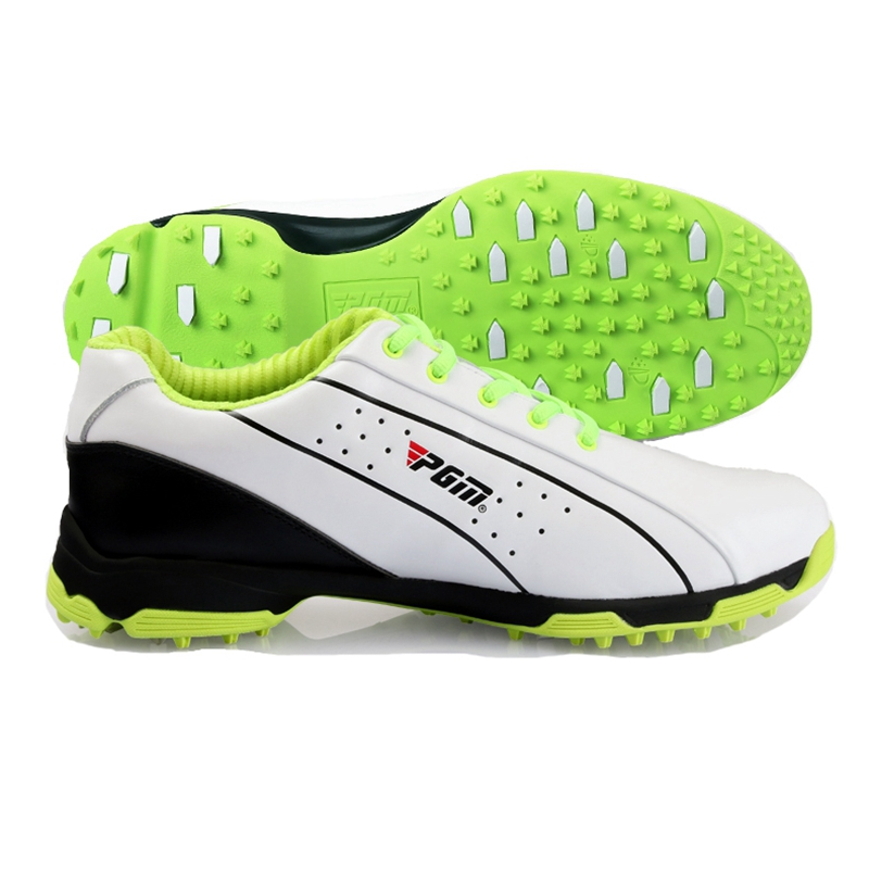 Brand PGM Genuine Leather Mens Tour 360 Boa Boost Waterproof Spiked Golf Sports Shoes Sneakers Pro Tour Steady&Waterproof
