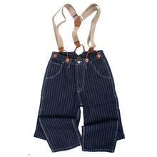 Autumn Winter Stripe Suspenders Jeans Brand Men Cargo Loose Straps Jean Overall Hombre Streetwear Denim Pants Clothing 2018(China)