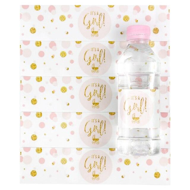 Bebek Duş 12 adet bir Erkek! Bu bir Kız Şişe Etiketleri Cinsiyet Reveal Parti Dekorasyon Malzemeleri Bebek Duş Erkek Kız Sopa