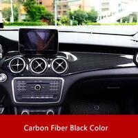 Carbon Fiber Color Center Console Air Conditioning Panel Decoration Cover Trim For Mercedes Benz GLA X156 CLA C117 LHD 2013 18