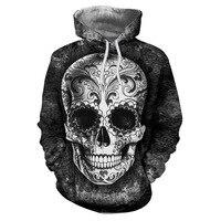 Sugar Skull Hoodies 3D Men Sweatshirts Drop Ship Printed Hoodie Brand Tracksuits Unisex Pullover 6XL Casual