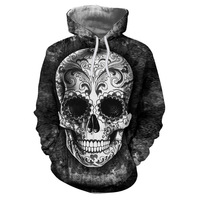 Sugar Skull Hoodies 3D Men Sweatshirts Drop Ship Printed Hoodie Brand Tracksuits Unisex Pullover 6XL Casual