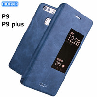Huawei P9 Plus Case P9 Case Cover Smart Windows Open Close Huawei P9 Flip Case MOFi