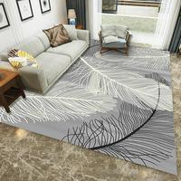 Hot Soft Feather Pattern Carpet Pad non slip rug living room pad Mat Home Floor Rugs for Bedside Living Room Tea Table Decor