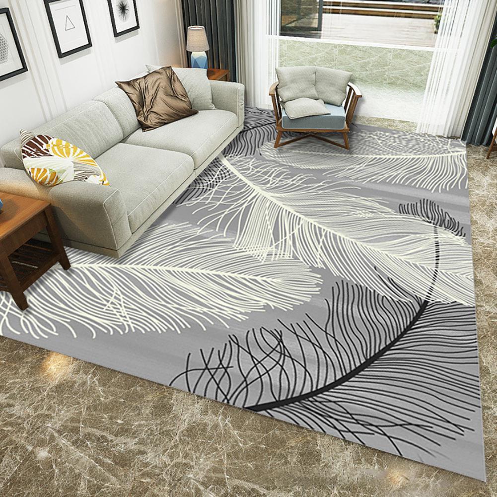 Chaud doux plume motif tapis tapis antidérapant tapis salon Pad tapis maison plancher tapis pour chevet salon thé Table décor