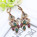 Fashion Vintage Turkish Earrings Antique Water Drop Gold Plated Earrings Women Arabesque Ethnic Engagement Party Festival Gift