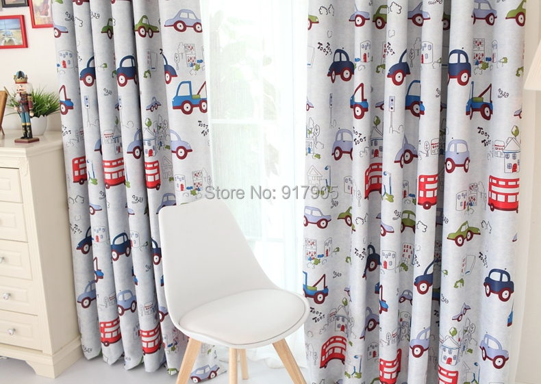 Cute Cartoon Curtains For Kids Designer Cartoon Cars Print Kids Curtains  Modern Custom Made Blackout Curtains 2Panels In Curtains From Home U0026 Garden  On ...