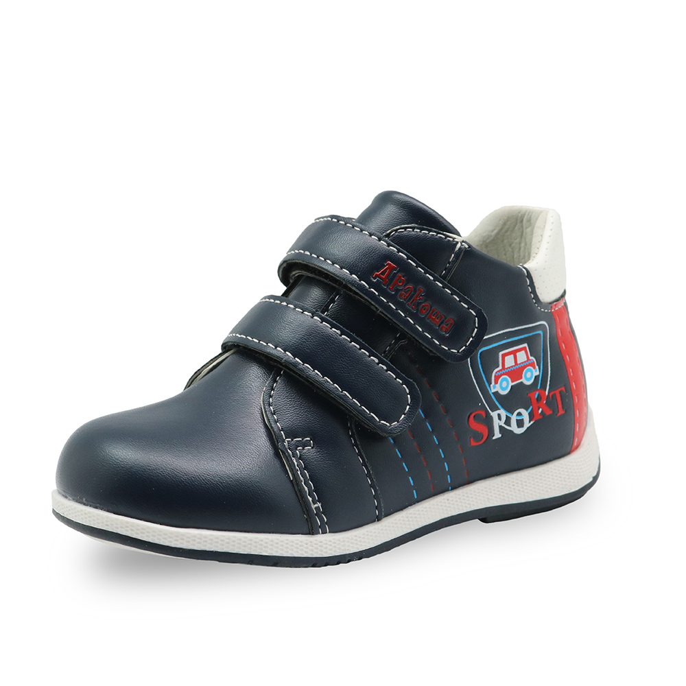 Apakowa Spring Autumn handmade comfortable Boys ankle boots boys Martin boots fashion kids boots High-quality children shoes car apakowa autumn spring winter toddler boys martin boots with zipper kids fashion ankle boots for boys kid shoes with arch support