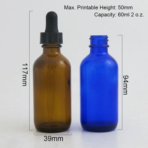 24 pcs 60 ml cobalto frasco conta gotas