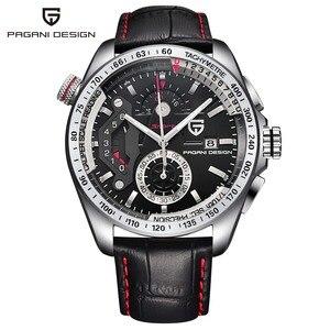 Image 2 - ออกแบบ PAGANI Mens นาฬิกาข้อมือกีฬา Quartz นาฬิกาดำน้ำกันน้ำชายนาฬิกา Chronograph นาฬิกาข้อมือทหาร relogio masculino