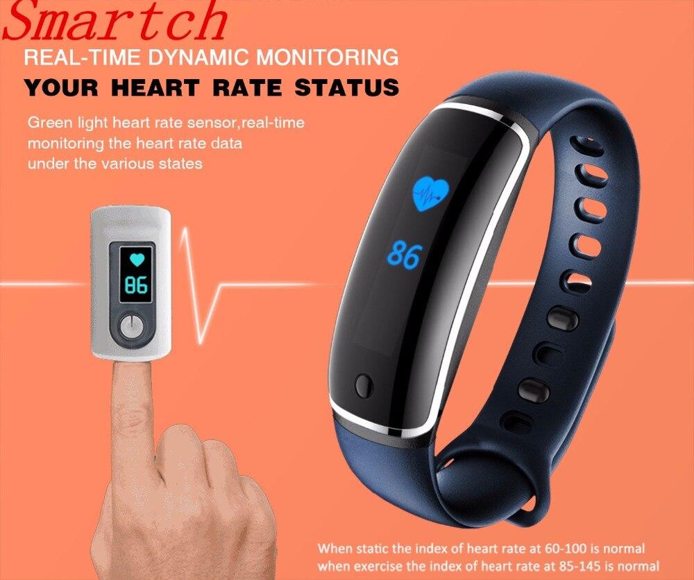 Smartch Smart Fitness Bracelet Pulsometer Blood Pressure Meter V8 Smartband Pedometer Bangle Band Heart Rate Monitor