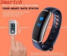 Smartch Смарт-фитнес браслет пульсометр Приборы для измерения артериального давления метр V8 SmartBand шагомер браслет сердечного ритма Мониторы Для мужчин часы P