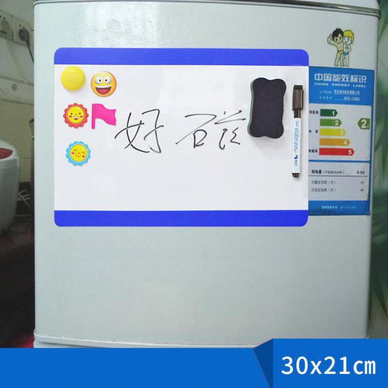 Color Side Whiteboard Refrigerator Sticker Can Be Erased Mini White Board Sticker Note Message Board Magnetic