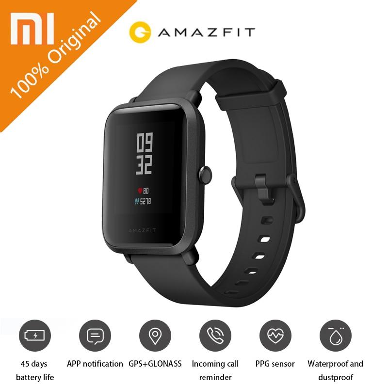 Original Xiaomi Youth Edition Smart Watch GPS GLONASS Bluetooth 4.0 Heart Rate Monitor IP68 Waterproof Android 4.4 IOS 8 original amazfit bip youth edition smart watch gps glonass bluetooth 4 0 heart rate monitor ip68 waterproof android 4 4 ios 8