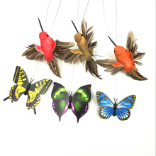 Pet Cat Toys Electric Rotating Colorful Butterfly and birds Funny Pet Scratch feather Toy For Cats Kitten interactive