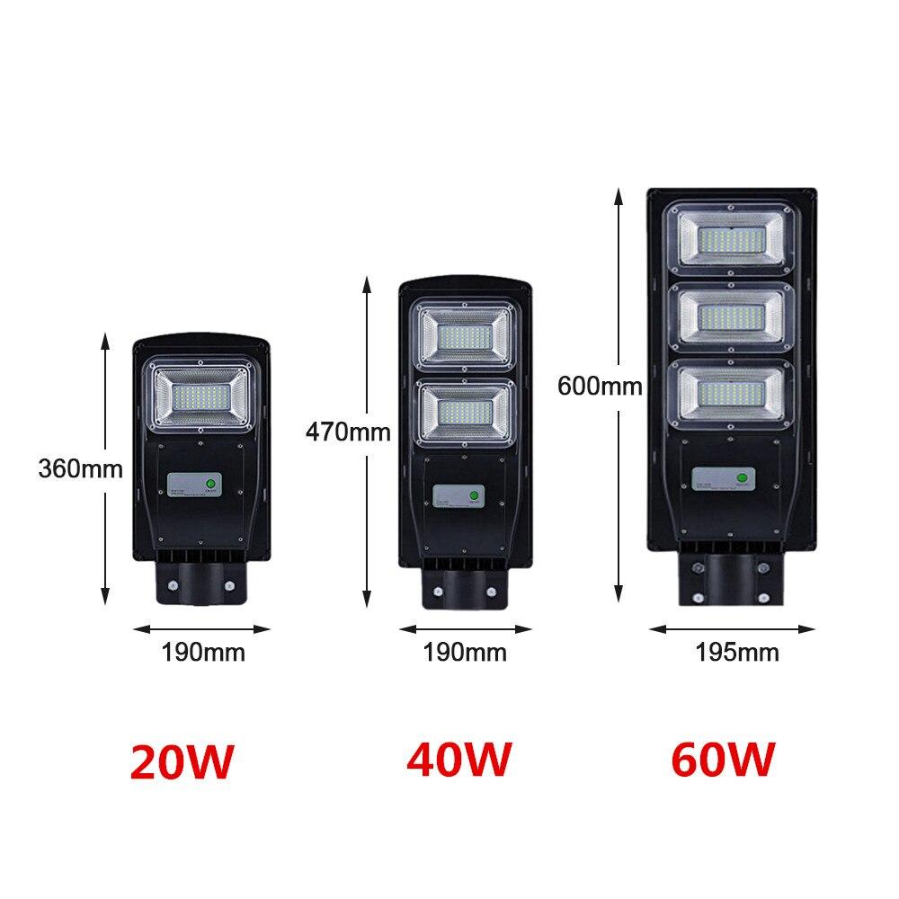 20W/40/60W LED Wall Lamp IP65 Waterproof Outdoor Solar Street Light Radar Motion For Garden Yard Street Flood Lamp