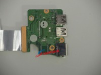 Original FOR HP Pavilion 15 AK Card Reader Ethernet Port USB Board w/Cable DAX1PDTB8D0 Test OK