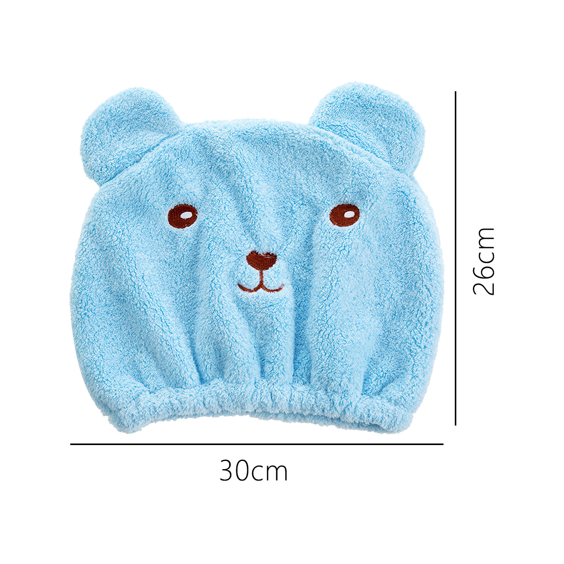 Bath Accessories Cute Bear Shower Cap For Hair Wrapped Towels Microfiber Shower Hats Bath Caps Superfine Quickly Dry Hair Cap