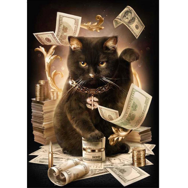 DIY Daimond Painting Cats Cash Style Painting Needlework Cross Stitch Full Drill Stones Beautiful Diamond Plated Embroidery