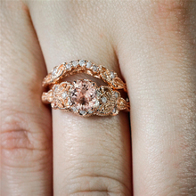 14 Rose Gold Microinlaid Zircon Engagement Rings for Females Anillos De Diamond Peridot Gemstone Bizuteria Diamante Jewelry Ring