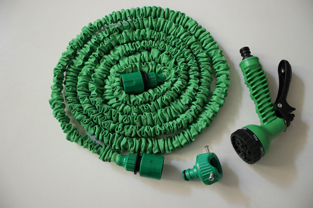 Universal Connector+Expandable Flexible Hose 25FT(As Seen On TV ) + 7 Forms Spray Household Watering Kits Water Garden Hose  manguera expandible